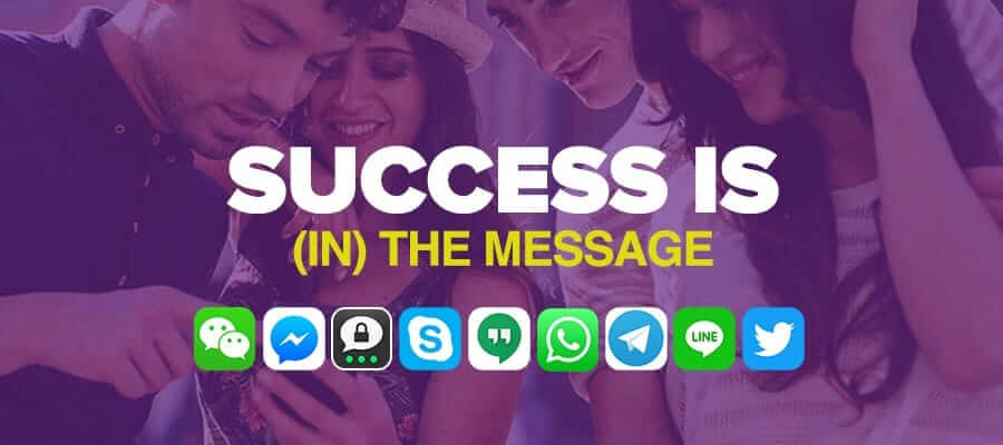 Success is (in) the message
