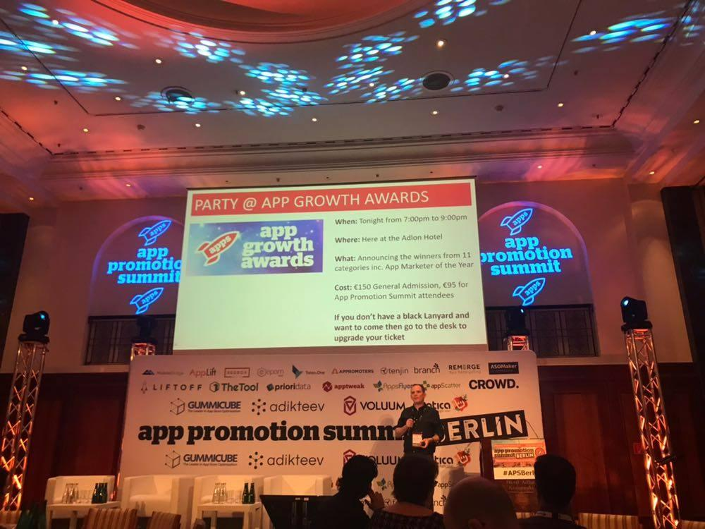 Photo from Award Show at App Promotion Summit 2017