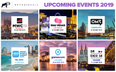 Spyke Media Mobile Industry Events for 2019: MWC, MAU and Beyond
