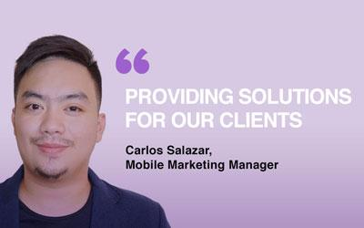 "Carlos Salazar: ""Providing solutions for our clients"""